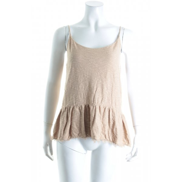 Zara Knit Stricktop beige Street-Fashion-Look