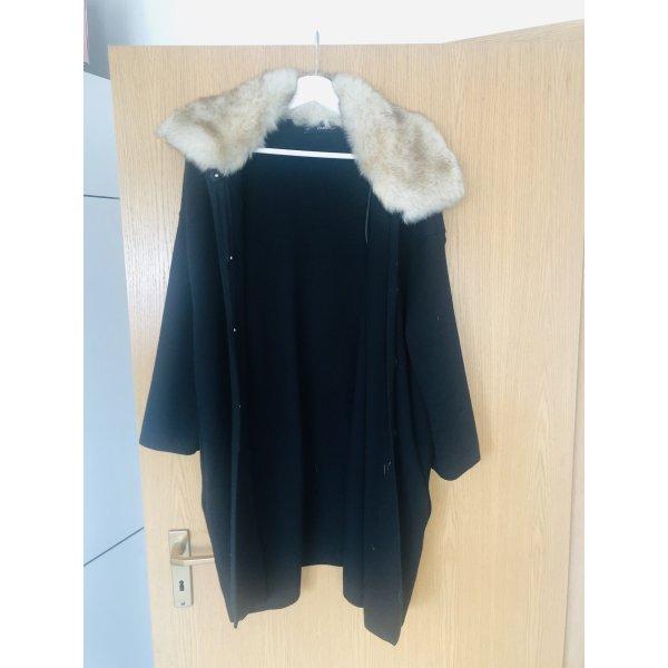 Zara Knit Wear S Mantel mit Fell