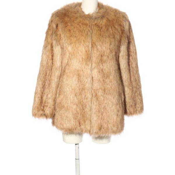 Zara Kunstfelljacke hellorange extravaganter Stil