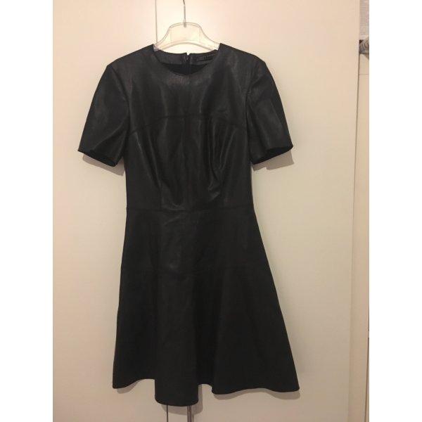 Zara Kunstlederkleid S schwarz top Zustand