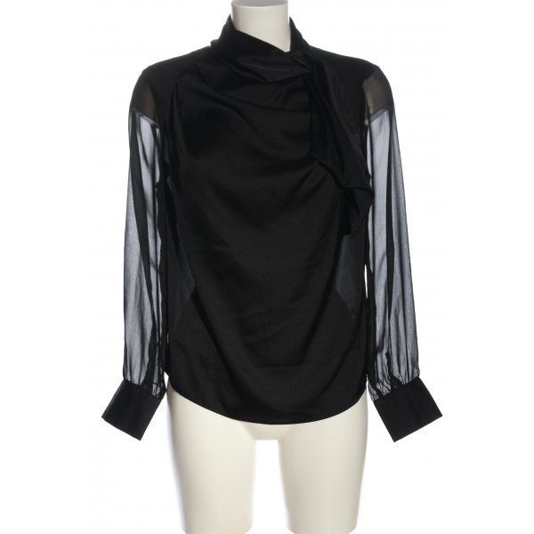 Zara Langarm-Bluse schwarz Business-Look