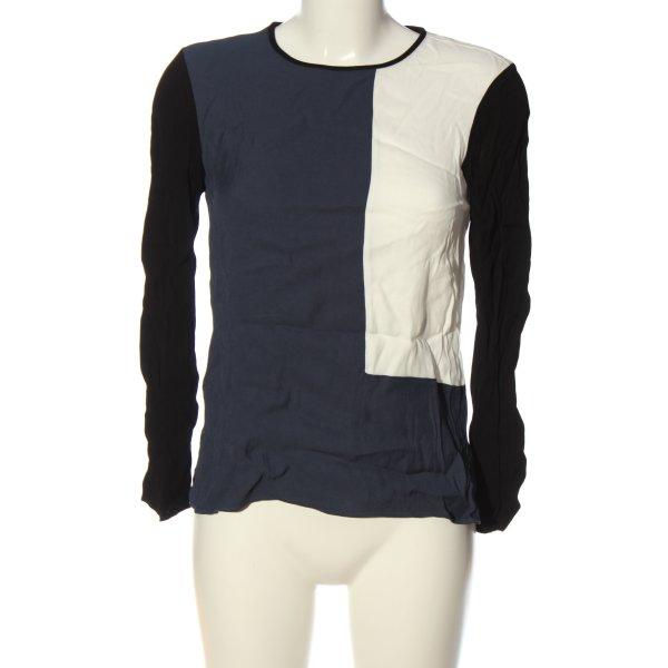 Zara Langarm-Bluse mehrfarbig Casual-Look