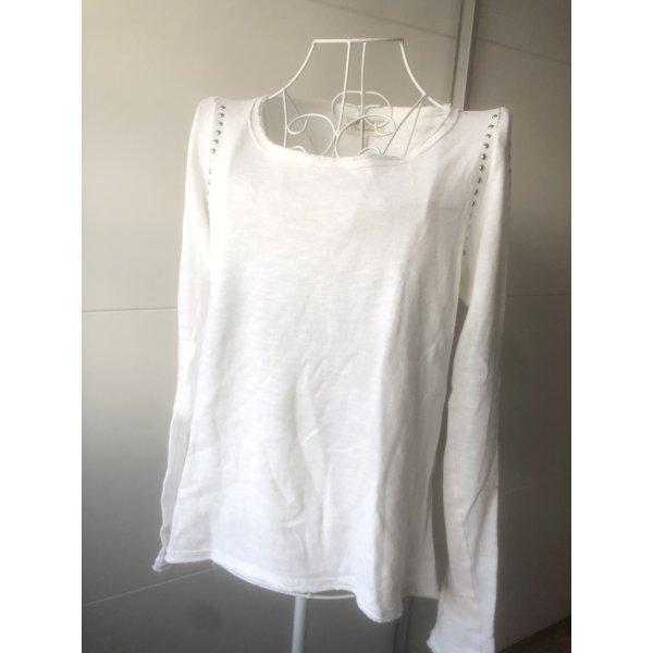 Zara Langarm Shirt mit Nieten S 36