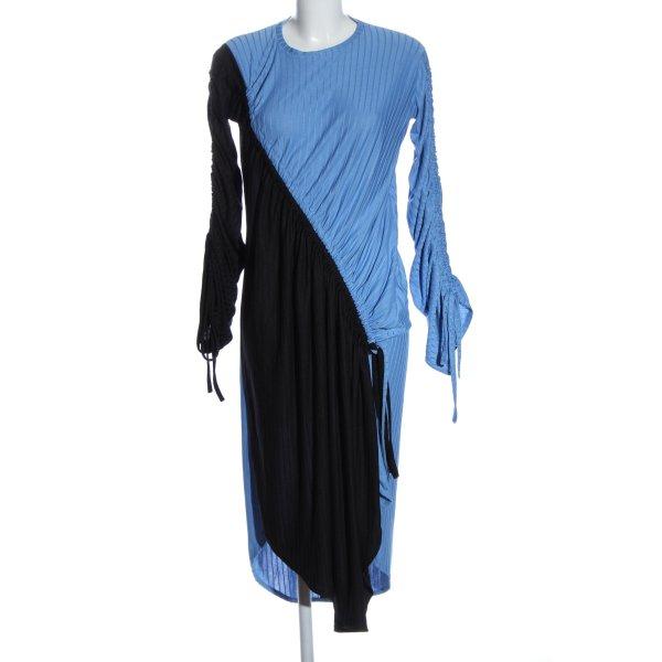 Zara Langarmkleid schwarz-blau Elegant