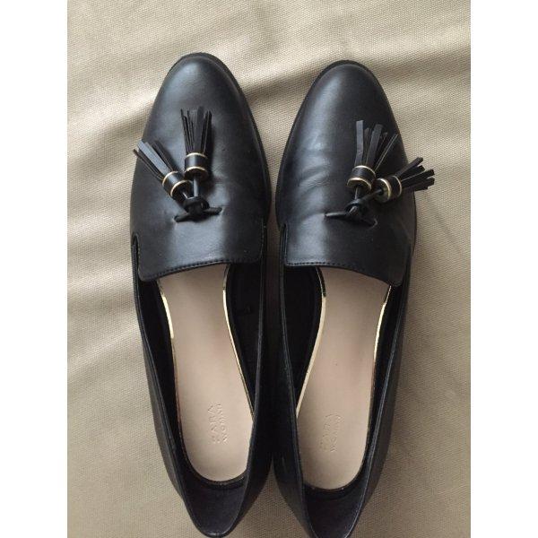 Zara Loafer/Ballerinas schwarz , einmal getragen