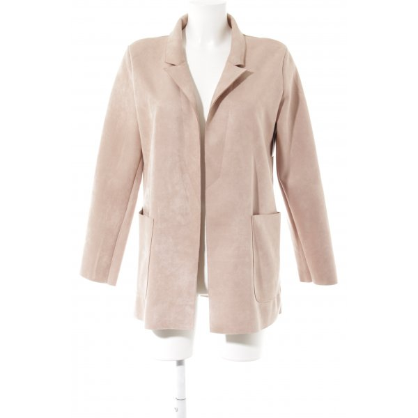 Zara Long-Blazer altrosa Casual-Look