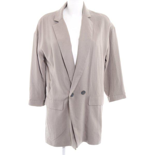 Zara Long-Blazer graubraun Casual-Look