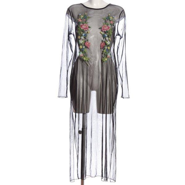 Zara Long-Bluse schwarz extravaganter Stil