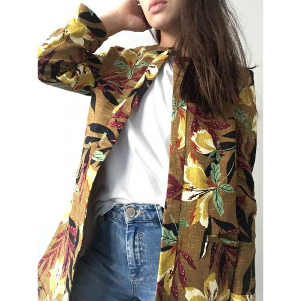 Zara | Longblazer mit floralem Muster - neu mit Etikett