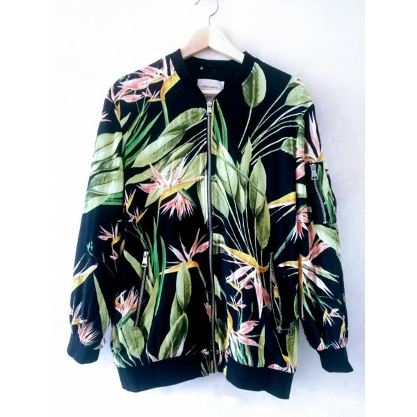 Zara longer length Tropical Bomber S