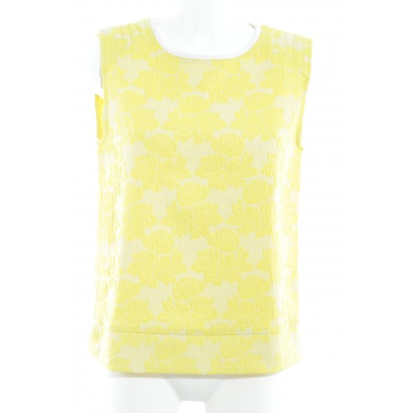 Zara Longpullunder gelb-blassgelb Blumenmuster extravaganter Stil