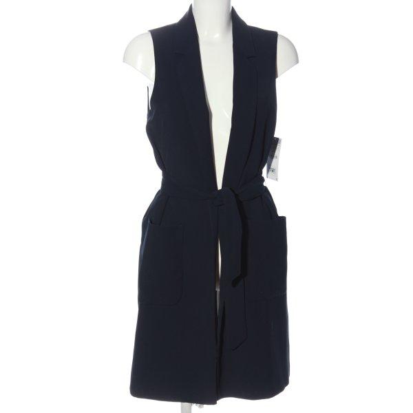 Zara Longstrickweste blau Casual-Look