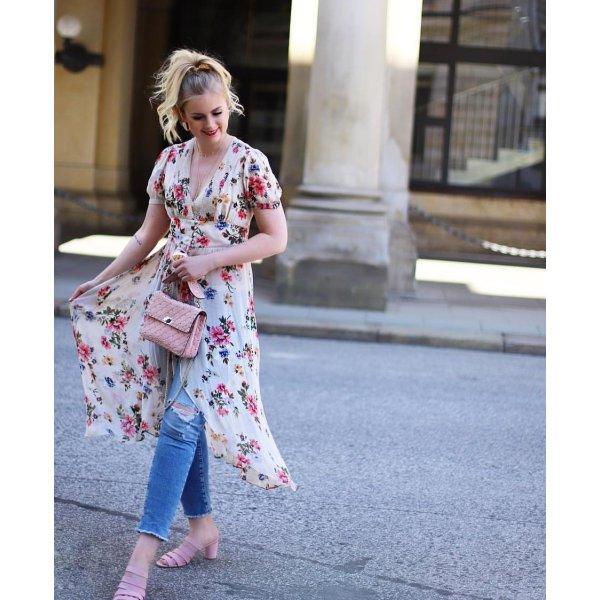 Zara maxi bluse Kleid