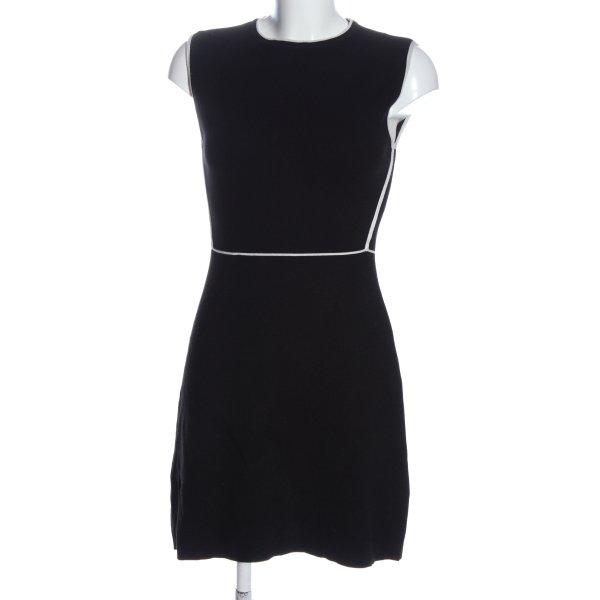 Zara Midikleid schwarz-weiß Elegant