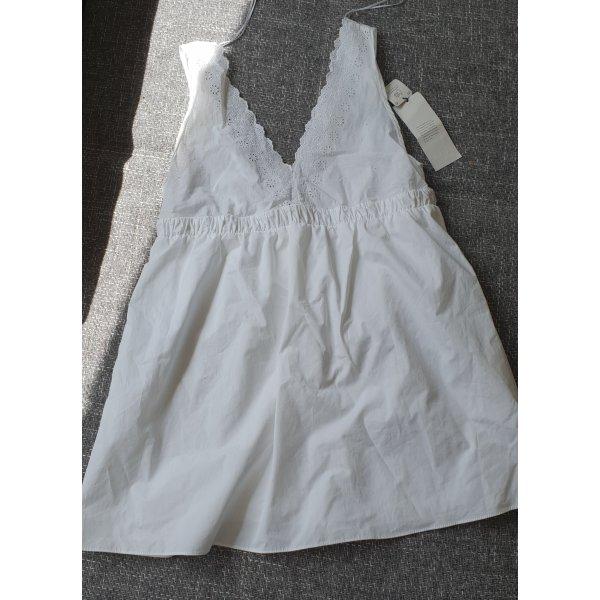 Zara Mini Kleid weißkleid Boho dress white