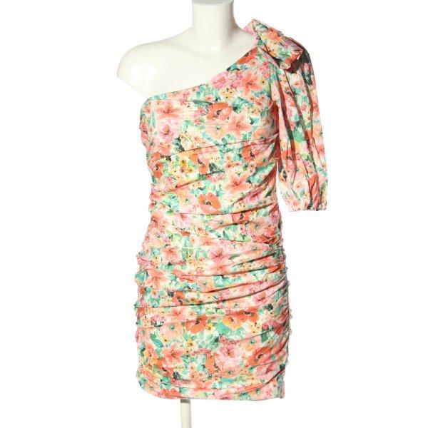 Zara One-Shoulder-Kleid Blumenmuster Elegant