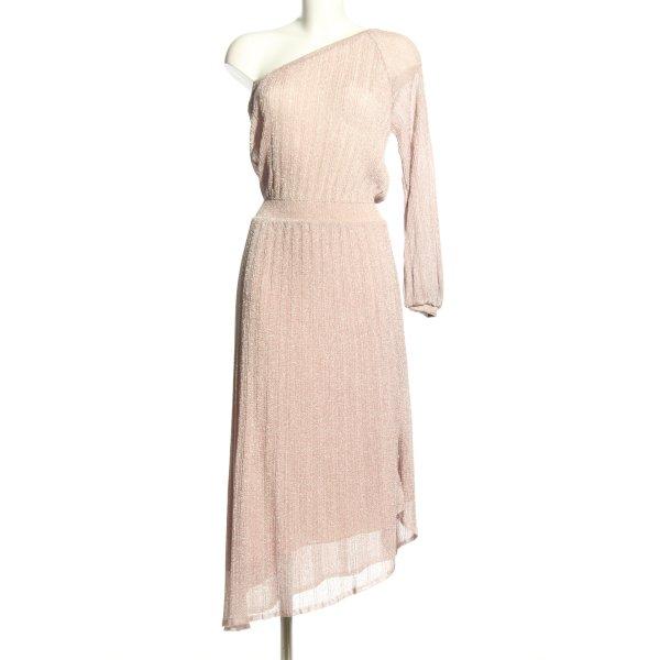 Zara One-Shoulder-Kleid pink Casual-Look