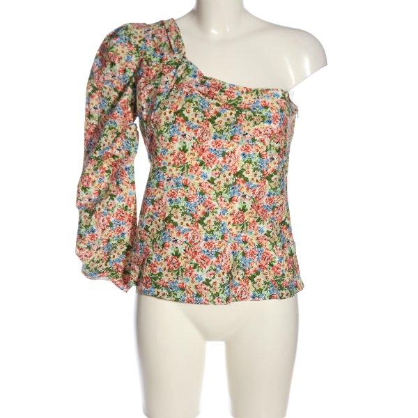 Zara One-Shoulder-Shirt Allover-Druck Casual-Look