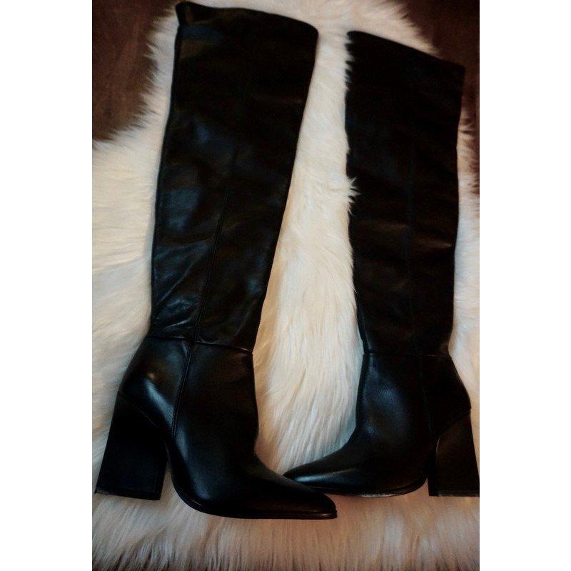 Zara Overknee Stiefel  sold out