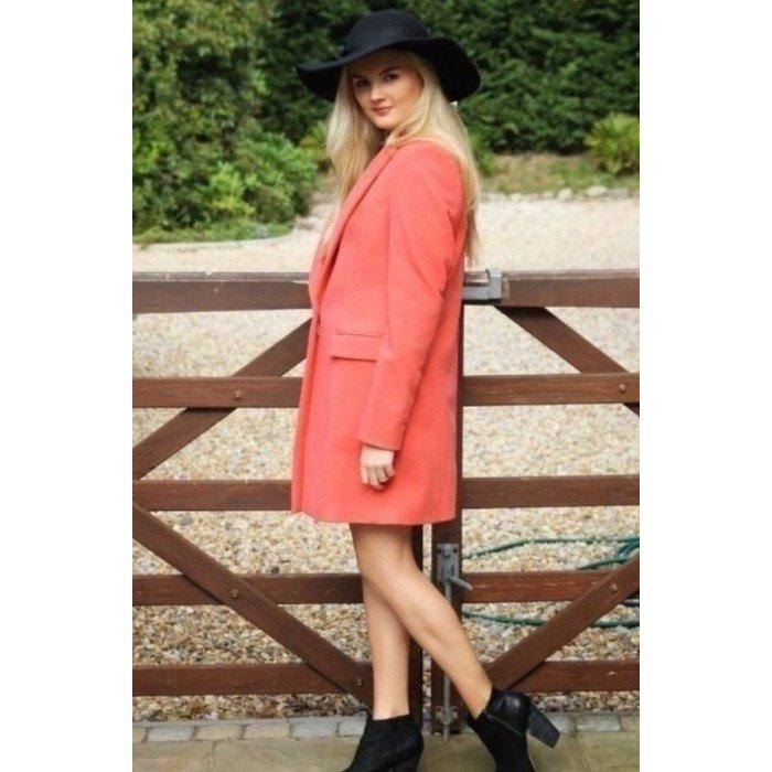 Zara Oversize Blazer Coral XS S 34 36 Jacket Lachs Longblazer Fashion Blogger Style