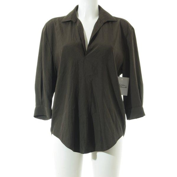 Zara Blouse oversized vert foncé style simple