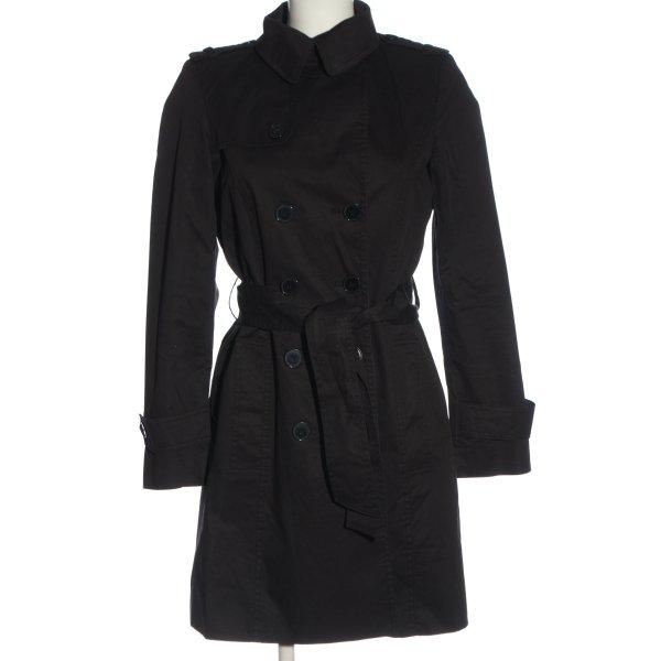 Zara Peacoat schwarz Casual-Look