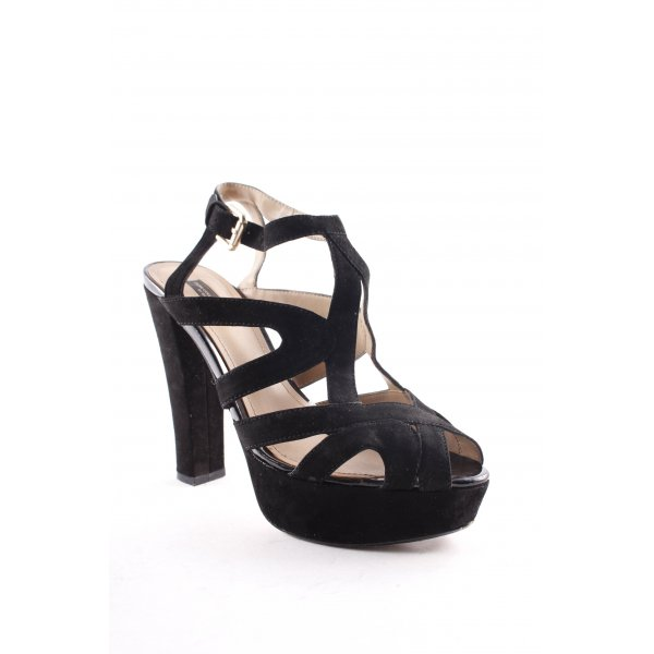 Zara Platform High-Heeled Sandal black elegant