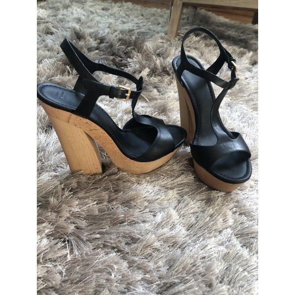 Zara Plateau Schuhe mit Holzabsatz