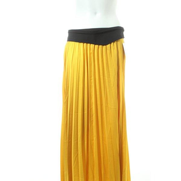 Zara Plisseerock gelb Street-Fashion-Look