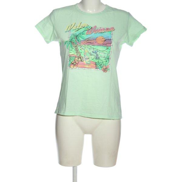 Zara Print-Shirt grün Motivdruck Casual-Look