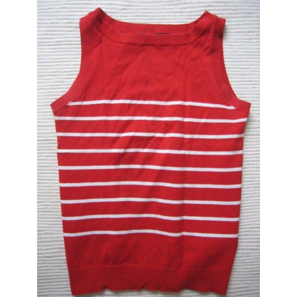 zara pullunder bluse rot streifen gr. s 36 neuwertig