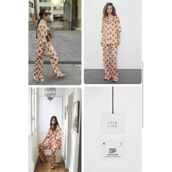 Zara Pyjama Hemd Größe S Oversize Blogger.