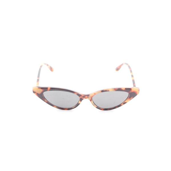 Zara Retro Brille Animalmuster Casual-Look