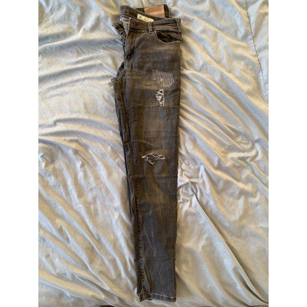 Zara ripped jeans - grau - destroyed jeans