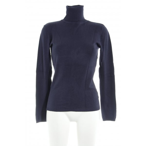 Zara Rollkragenpullover dunkelblau Casual-Look