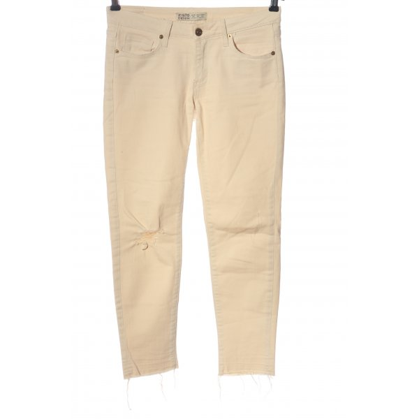 Zara Skinny Jeans creme Casual-Look