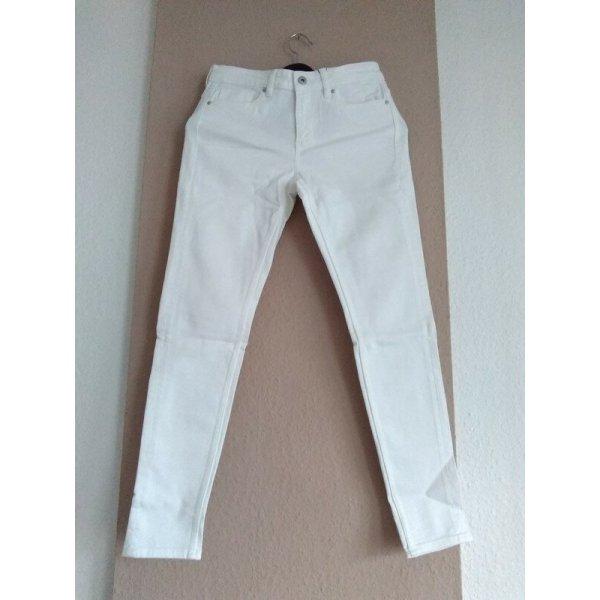 Zara Skinny Jeans in weiss, Grösse 38, neu
