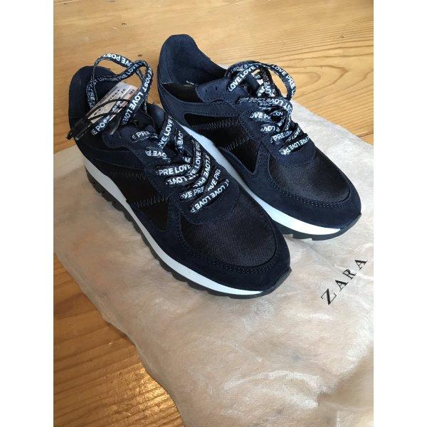 Zara sneaker Blau Weiss NEU 37