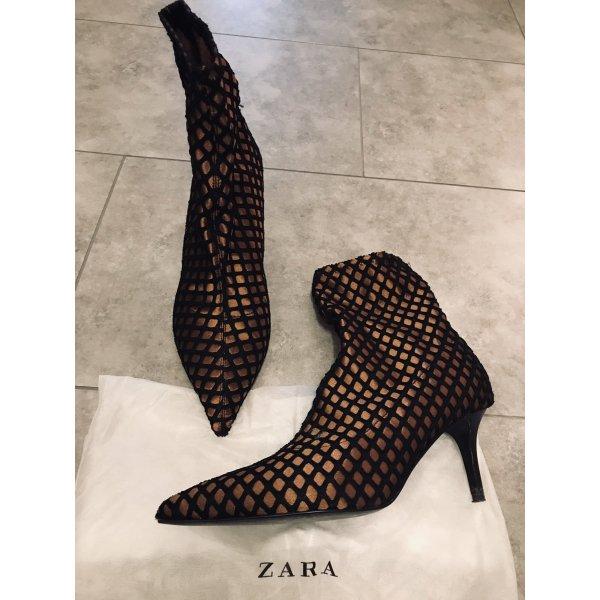 Zara Stivaletto slip-on nero-bronzo