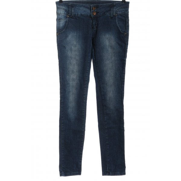 Zara Straight-Leg Jeans blau Casual-Look