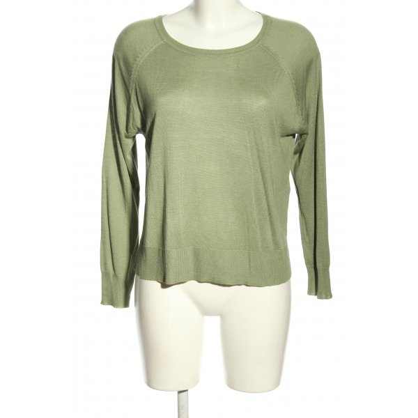 Zara Strickshirt grün Casual-Look
