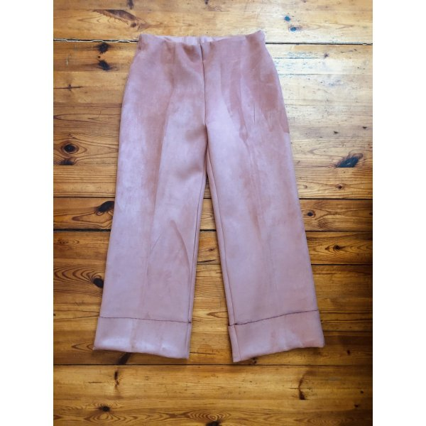 Zara suede ankle length pink trausers