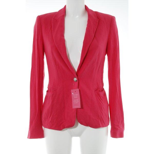 Zara Blazer de tela de sudadera rosa neón elegante