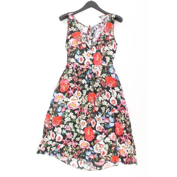 Zara Trägerkleid Größe M mit Blumenmuster mehrfarbig aus Viskose