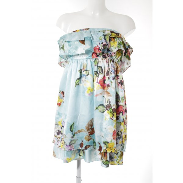 Zara Trafaluc Bandeaukleid florales Muster Romantik-Look
