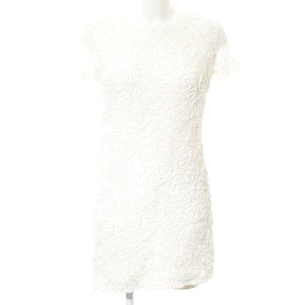 Zara Trafaluc Minikleid wollweiß Business-Look