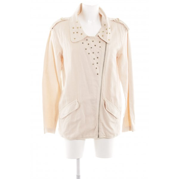 Zara Trafaluc Oversized Jacke nude-goldfarben Casual-Look