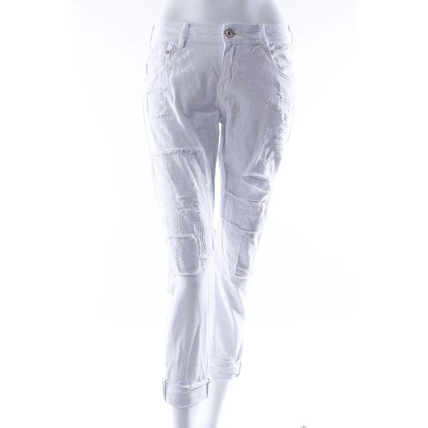 Zara Trafaluc Slim Jeans weiß