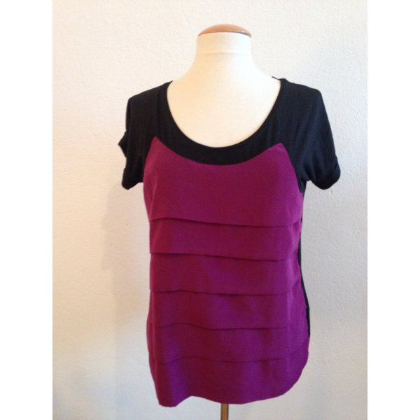 Zara, Tshirt, Basic Tshirt, Gr.40, schwarz pink
