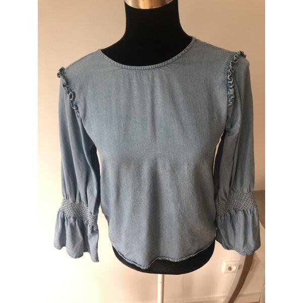 Zara Tunika Rüschen  Folklore Jeans Tunika neu wertige Bluse